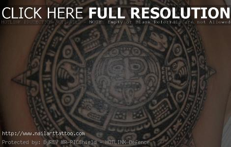 aztec calendar tattoos pictures
