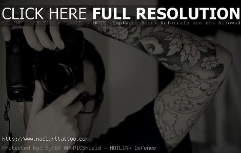 Great Black And White Sleeve Tattoos Tumblr