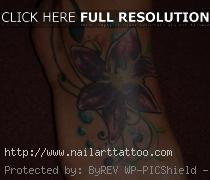 flower ankle tattoos