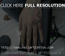 Small Tattoo Design on Hand for Girls